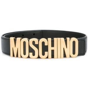 Moschino - BELT IN LEATHER WITH LOGO